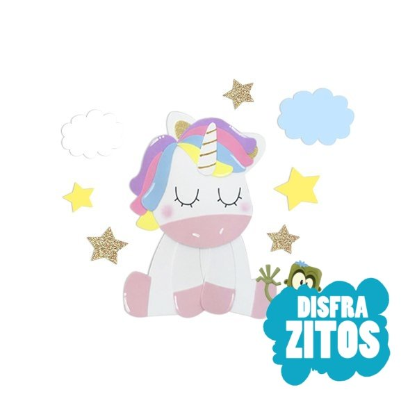 Figura Unicornio Goma Eva Para Pared Disfrazitos Tienda Online